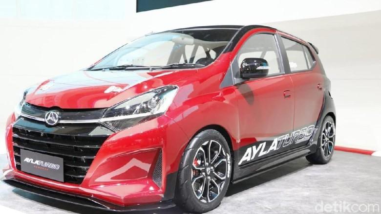Daihatsu Ayla Turbo dipamerkan di GIIAS 2018 (Foto: Rangga Rahadiansyah)