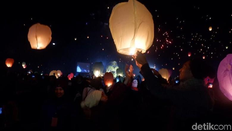 Foto: Penerbangan DIeng Culture Festival (Uje Hartono/detikTravel)