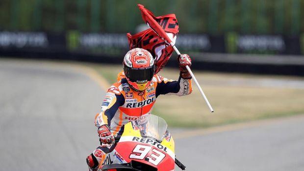 Marc Marquez saat ini jadi pemimpin klasemen MotoGP 2018.