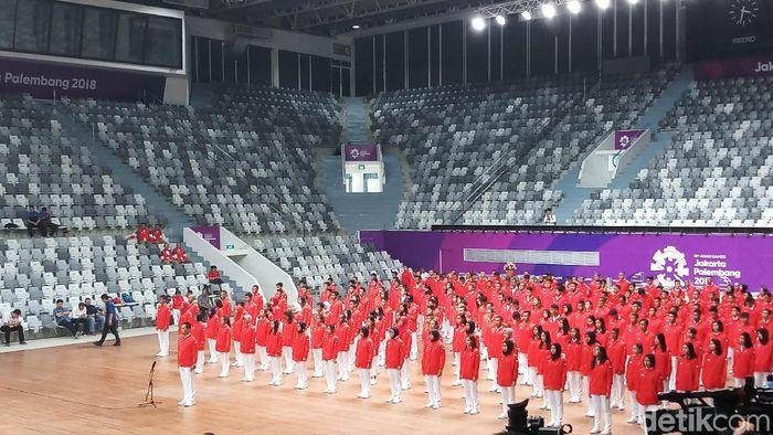 Pengukuhan kontingen Indonesia di Asian Games 2018. (Foto: Yanu Arifin/detikcom)