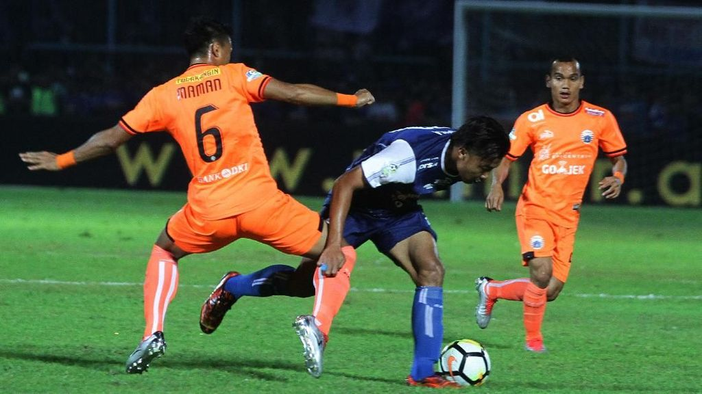 Hasil Liga 1 2018: Arema vs Persija Berakhir 1-1