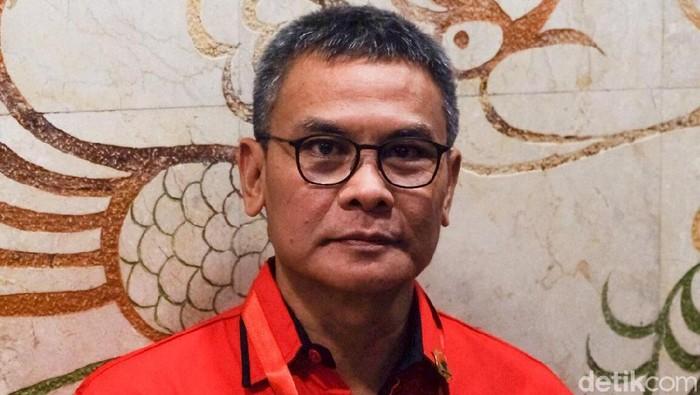 Johan Budi saat mengikuti pembekalan caleg PDIP