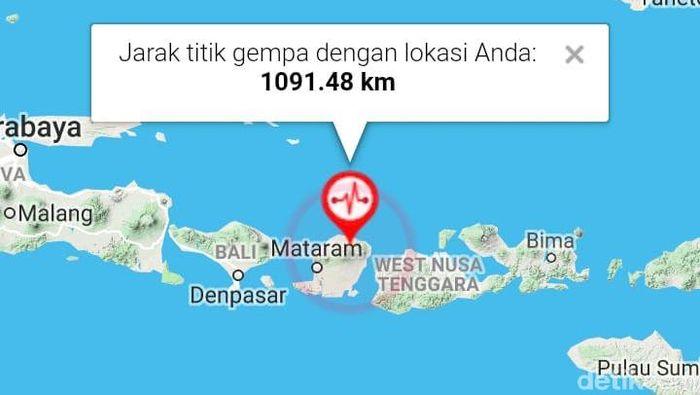 Foto: Screenshot dari aplikasi BMKG