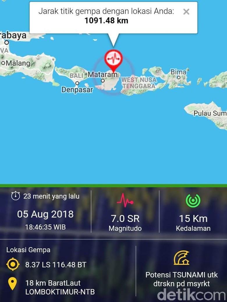 Gempa Lombok Berpusat Di Darat Kenapa Bisa Tsunami Rumah Untuk Keluarga