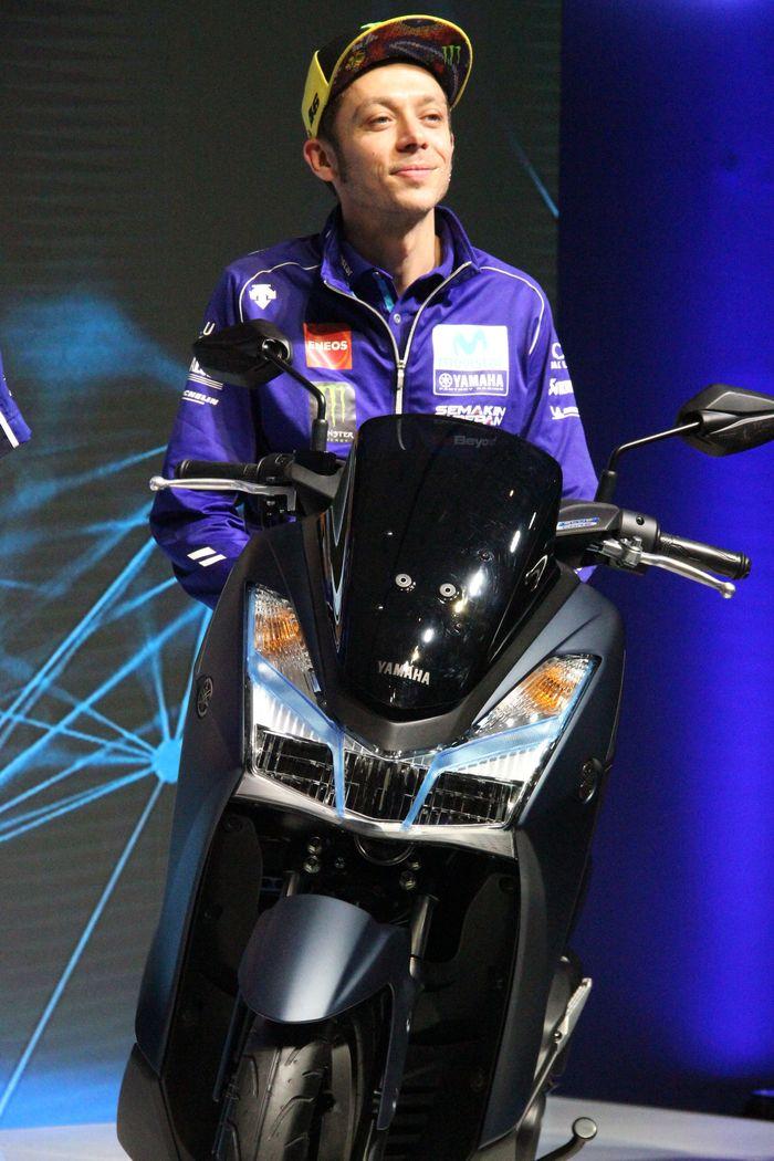 Valentino Rossi hadir di peresmian Yamaha Lexi. Foto: Yamaha/Foto: Dok Yamaha