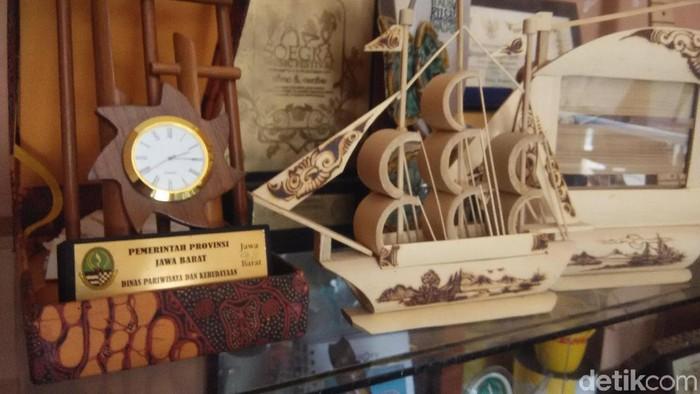 Aneka produk berbahan bambu. (Foto: Rachmadi Rasyad/detikcom)
