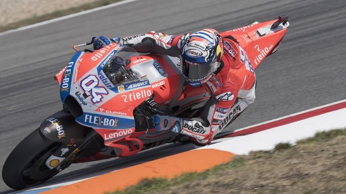 Andrea Dovizioso di MotoGP Republik Ceko 2018. (Foto: Mirco Lazzari gp/Getty Images)