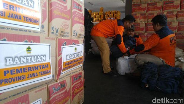 Pengiriman bantuan dari Jateng untuk Lombok.