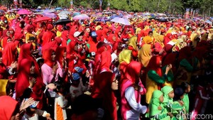 Ketika Belasan Ribu Anak PAUD Nyanyi Bareng di Candi Borobudur