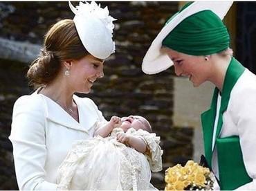 Mungkin beginilah kira-kira jika Putri Diana melihat wajah cucunya, Pangeran Louis, yang digendong Kate Middleton. (Foto: Instagram @dianaprincesadegales)
