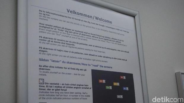 Sistem antrean rumah sakit di Denmark sudah terkomputerisasi. Pasien lebih mudah memperkirakan seberapa lama harus menunggu.