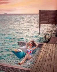 Ini adalah liburannya saat berada di Maldives. (ec24m/Instagram)