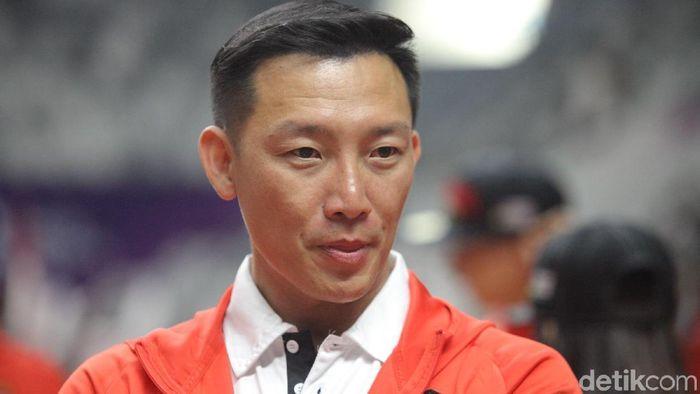 Pelatih pelatnas renang Albert C Sutanto, berharap SIman Sudartawa tak demam panggung saat tampil di GBK. (Grandyos Zafna/detikSport)