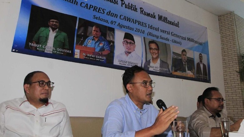 Diskusi Capres Cawapres Generasi Milenial