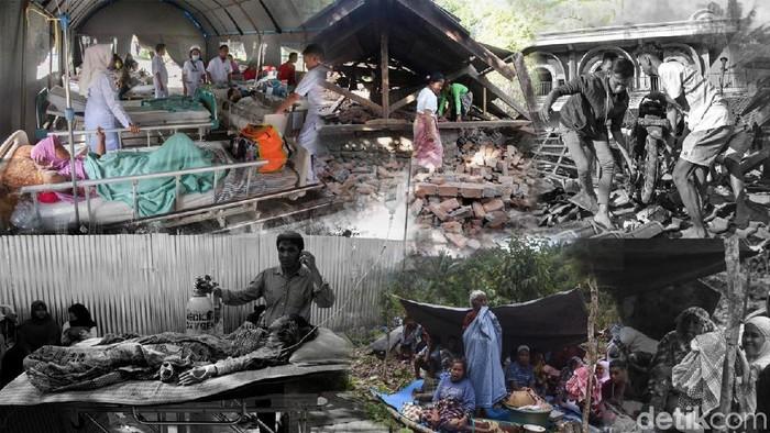 Gempa di NTB, Kementerian Kesehatan berikan bantuan pemberian makanan tambahan (PMT) sebanyak 2 ton. Foto: Ilustrator: Luthfy Syahban