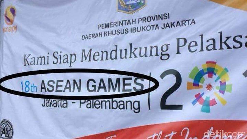 Viral Spanduk Asian Games Salah Tulis Jadi Asean, Ini Kata Inasgoc