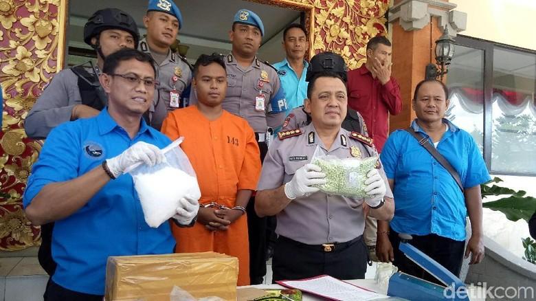 Kurir Narkoba Rp 3,1 Miliar Diciduk di Denpasar