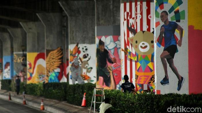 Mural sambut Asian Games/Foto: Rifkianto Nugroho