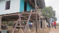 Rumah-rumah penduduk di Pulau Rinca (Afif Farhan/detikTravel)