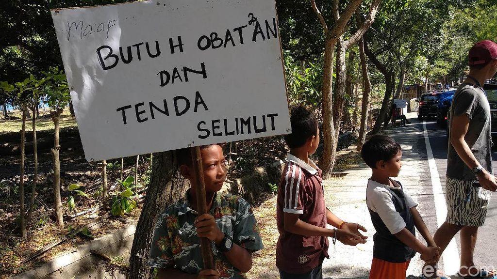 Korban Gempa Lombok Butuh Bantuan Obat, Tenda, dan Selimut
