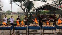 Sitaan Bea-Cukai Senilai Rp 29 Miliar Dibakar di Medan