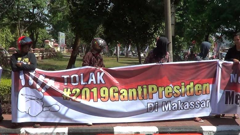 Mahasiswa Tuntut Polisi Bubarkan Deklarasi #2019GantiPresiden