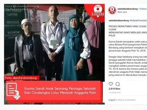 Viral! Anak Penjaga Sekolah di Bandung Jadi Polisi