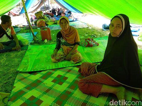 Sebagian korban gempa Lombok yang mengungsi.