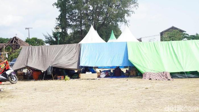 Tenda pengungsian untuk korban gempa di Lombok (Foto: Widiya Wiyanti/detikHealth)