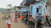 Penduduk di Desa Komodo (Afif Farhan/detikcom)