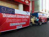 Bersama CT ARSA, Transmart Carrefour Kirim Bantuan Korban Gempa