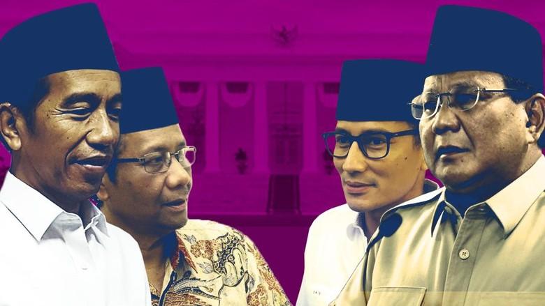 Tantangan Jokowi-Mahfud Md vs Prabowo-Sandiaga
