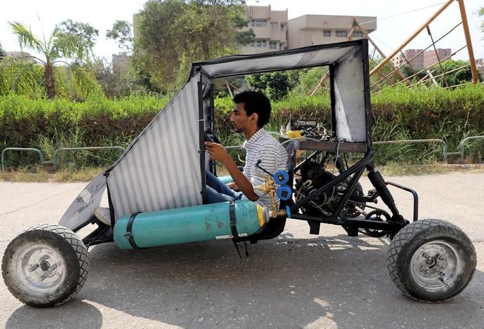 Mahasiswa Mesir Kembangkan Kendaraan Bertenaga Udara