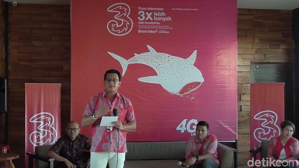 Hiu Paus Jadi Ikon 4G LTE Tri di Gorontalo