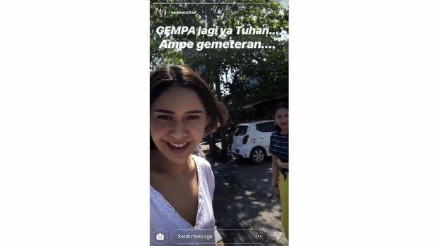 Nana Mirdad dalam unggahan Story di akun Instagram miliknya.