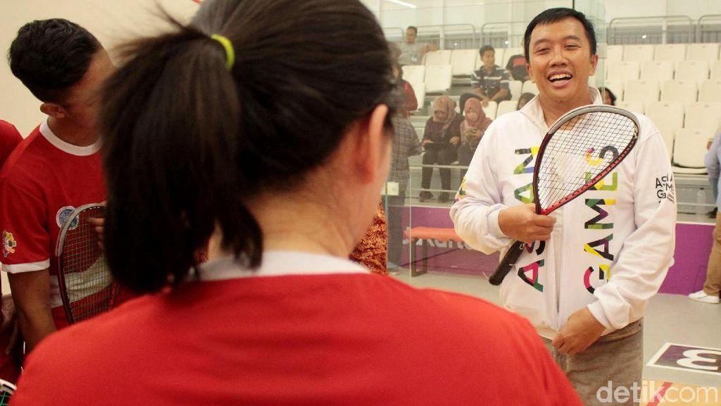 Menpora Tinjau Kesiapan Timnas Squash