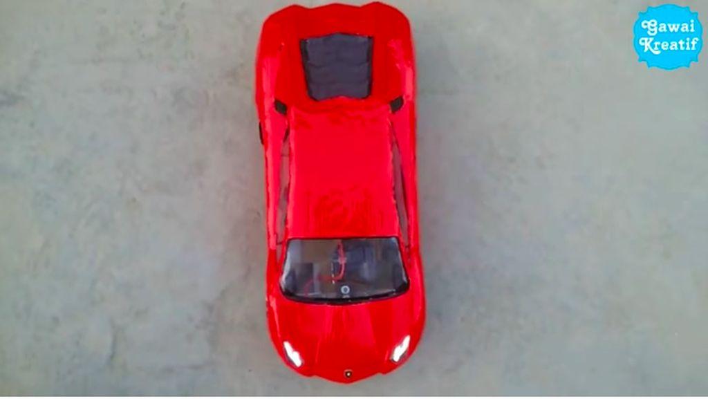 Ini Caranya Buat Lamborghini dari Kardus, Gampang Banget!