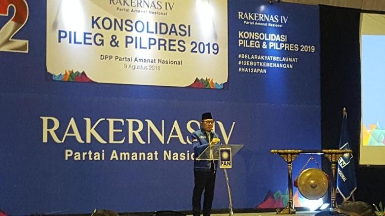 Buka Rakernas, Zulkifli: Mayoritas Ingin PAN Dukung Prabowo