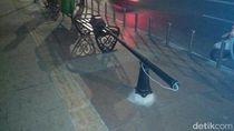 Baru Dipasang, Lampu Taman di Jembatan Ampera Sudah Dirusak