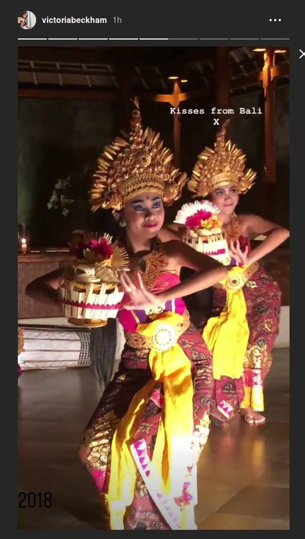 Saat Keluarga Beckham Tersihir Tarian Bali