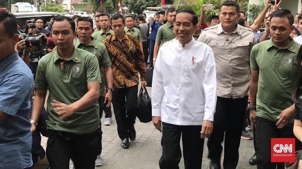 Jokowi saat pengumuman cawapres