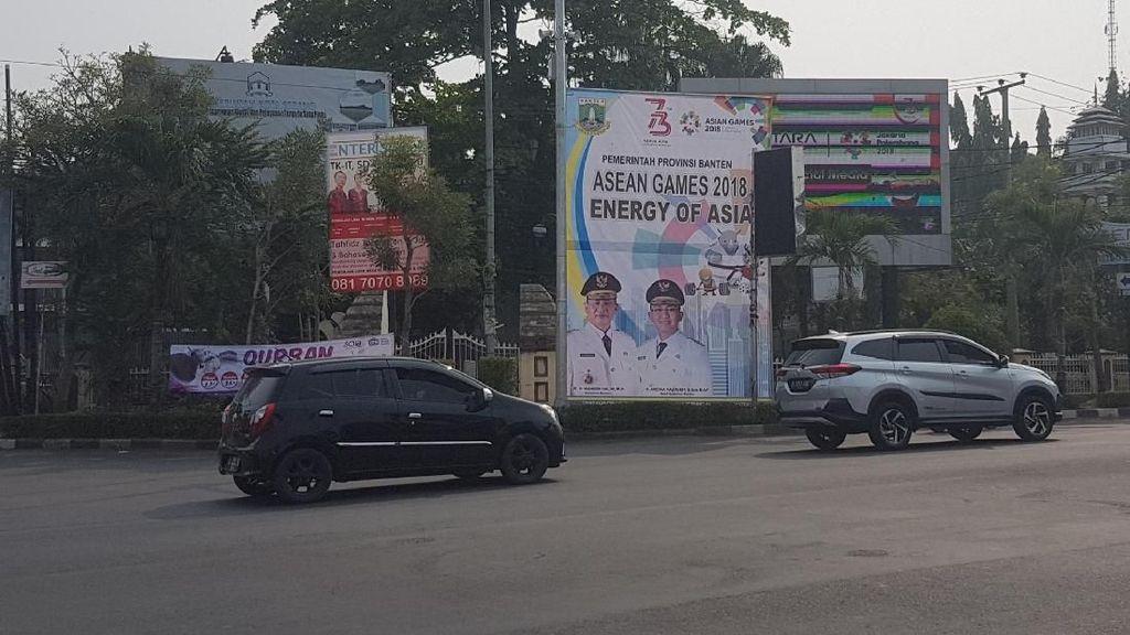 Duh! Spanduk Promosi Milik Pemprov Banten Tertulis Asean Games