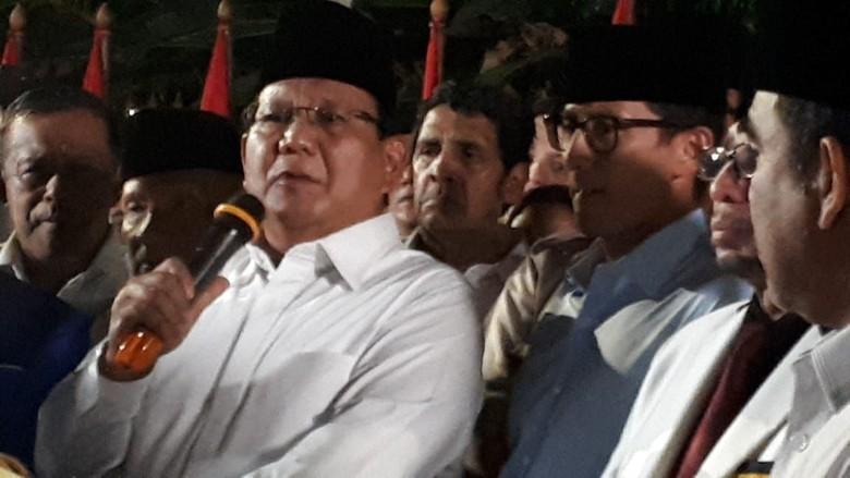 Prabowo: Sandiaga Bersedia Mundur dari Wagub DKI