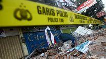 Ruko di Mataram Rusak Parah Akibat Gempa Susulan