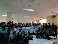 150 Driver GrabBike Deklarasikan Dukung Asian Games