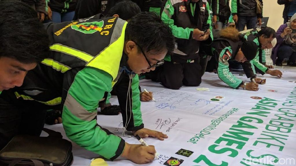 Deklarasi 150 Driver GrabBike Dukung Asian Games 2018