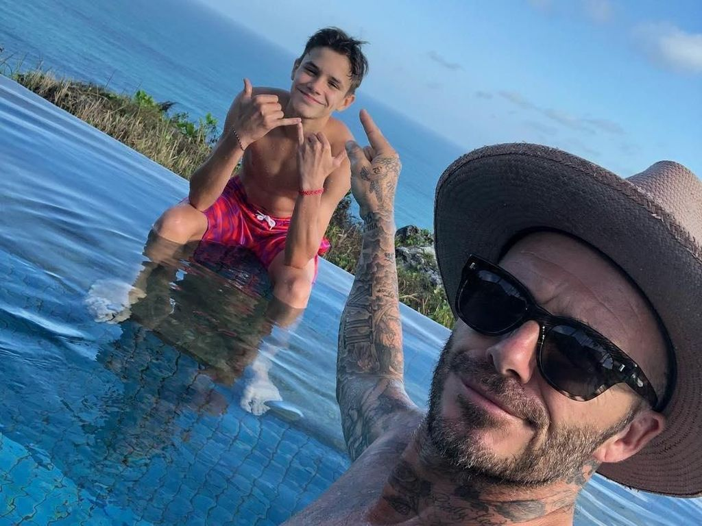 Keluarga Beckham di Bali