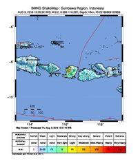 Ini Titik Pusat Gempa 6,2 SR di NTB