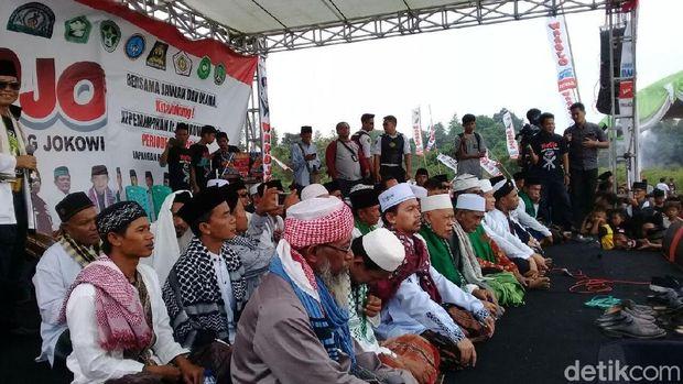 Jawara dan Ulama Banten Deklarasi Dukung Jokowi-Ma'ruf Amin