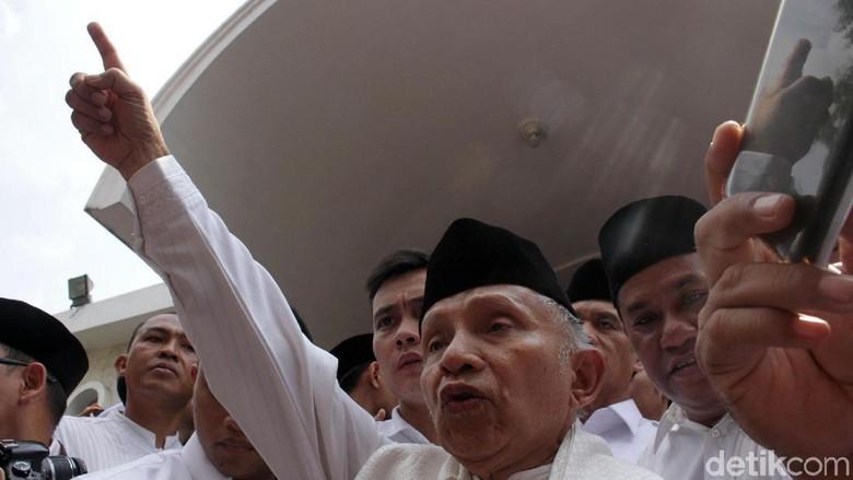 Sebelum Bertemu SBY, Prabowo Disambangi Amien Rais